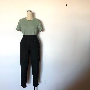 Alia Petites - Sage Ribbed Knit T-Shirt